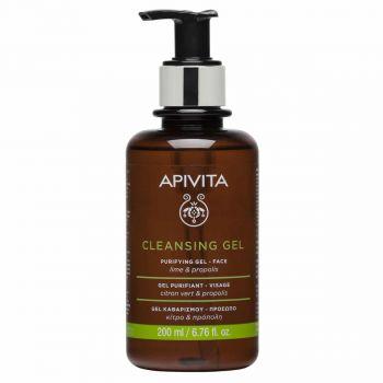 Apivita Gel Καθαρισμού Για Λιπαρές & Μικτές Επιδερμίδες Με Πρόπολη & Lime 200ml