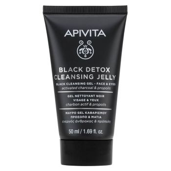 Apivita Cleansing Black Detox Μαύρο Gel Καθαρισμού – Πρόσωπο & Μάτια 50ml