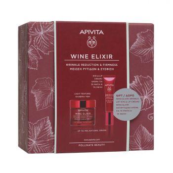 Apivita Promo Wine Elixir Αντιρυτιδική Κρέμα Για Σύσφιξη & Lifting Ελαφριάς Υφής 50ml & ΜΕ ΔΩΡΟ WINE ELIXIR ΑΝΤΙΡΥΤΙΔΙΚΗ ΚΡΕΜΑ LIFTING ΓΙΑ ΤΑ ΜΑΤΙΑ & ΤΑ ΧΕΙΛΗ 15ml