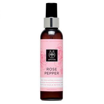 Apivita Rose Pepper Λάδι Μασάζ Αναδιαμόρφωσης Σώματος με Ροζ Πιπέρι & Τριαντάφυλλο 150ml