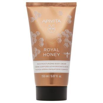Apivita Royal Honey Πλούσια Κρέμα Ενυδάτωσης Σώματος Με Ελληνικό Θυμαρίσιο Μέλι 150ml