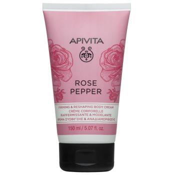 Apivita Rose Pepper Κρέμα Σύσφιγξης και Αναδιαμόρφωσης με Ροζ Πιπέρι & Τριαντάφυλλο 150ml