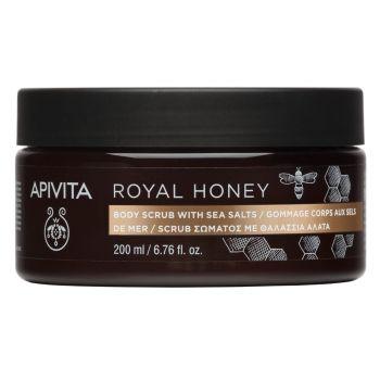 Apivita Royal Honey Scrub Σώματος με Θαλάσσια Άλατα Με Ελληνικό Θυμαρίσιο Μέλι 200ml