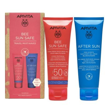 Apivita PROMO Bee Sun Safe Ενυδατικό Γαλάκτωμα Προσώπου & Σώματος SPF50 100ml & After Sun Προσώπου & Σώματος 100ml