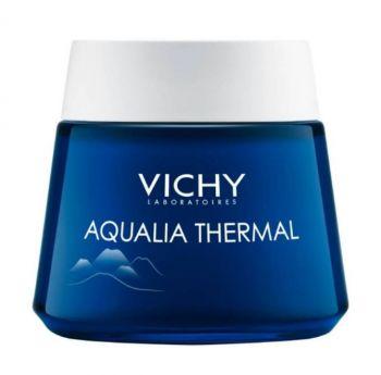 Vichy Aqualia Thermal Night Spa Ενυδατική Κρέμα Νύχτας και Μάσκα 2 σε 1 με Δροσερή Υφή 75ml