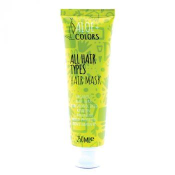 Aloeplus Hair Mask Ενυδατική Μάσκα για όλους τους τύπους μαλλιών με aloe vera και υαλουρονικό οξύ 150ml