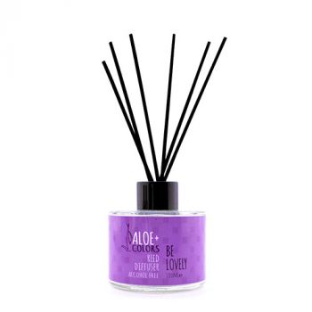 Aloeplus Reed Diffuser Be Lovely Αρωματικό Χώρου Με Άρωμα Καραμέλας 125ml
