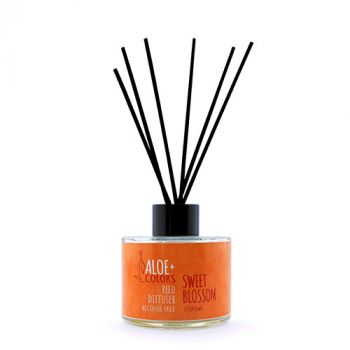 Aloeplus Reed Diffuser Sweet Blossom Αρωματικό Χώρου Με Βανίλια Πορτοκάλι 125ml