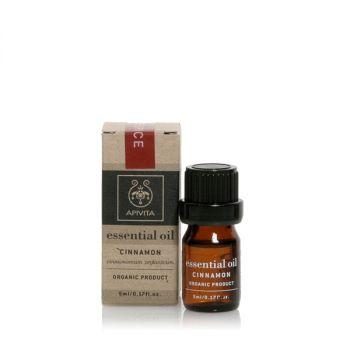 Apivita Αιθέριο Έλαιο Κανέλλας Essential Oil Cinnamon 5ml