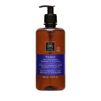 Apivita ECO PACK Holistic Hair Care  Τονωτικό Σαμπουάν Κατά της Τριχόπτωσης για Άνδρες με Ιπποφαές - Hippophae TC & Δεντρολίβανο 400ml