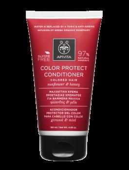 Apivita Holistic Hair Care Μαλακτική Κρέμα Προστασίας Χρώματος με Ηλίανθος & Μέλι 150ml