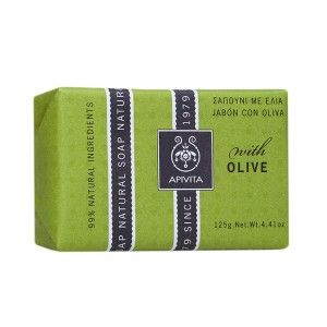 Apivita Natural Soap Σαπούνι με Ελιά με Γεράνι 125gr