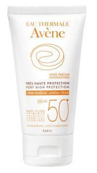 Avene Creme Minerale Spf50+ Sans Parfum Αντηλιακή Κρέμα με 100% Φυσικά Φίλτρα 50ml