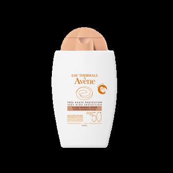 Avene Solaire Fluide Mineral Teintee Spf50+ Sans Parfum Αντηλιακή Λεπτόρρευστη Κρέμα με Χρώμα & 100% Φυσικά Φίλτρα 40ml