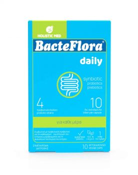 Holistic Med Bacteflora Προβιοτικό & Πρεβιοτικό 10 φυτοκάψουλες
