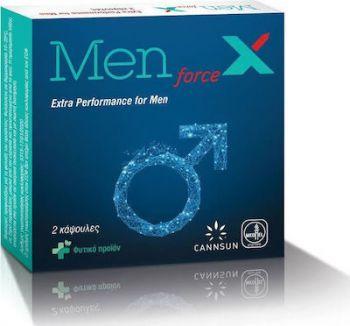 Cannsun Medhel MEN force X Φυτικό Συμπλήρωμα κατά της Στυτικής Δυσλειτουργίας 2caps