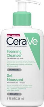 CeraVe Foaming Cleanser for Normal to Oily Skin 236ml
