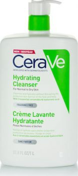 CeraVe Hydrating Cleanser Cream for Normal to Dry Skin Κρέμα Καθαρισμού για Κανονική έως Ξηρή Επιδερμίδα 473ml