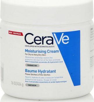 CeraVe Moisturising Cream for Dry to Very Dry Skin Ενυδατική Κρέμα για Ξηρό έως Πολύ Ξηρό Δέρμα 454g
