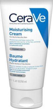 CeraVe Moisturising Cream for Dry to Very Dry Skin Ενυδατική Κρέμα για Ξηρό έως Πολύ Ξηρό Δέρμα 50ml