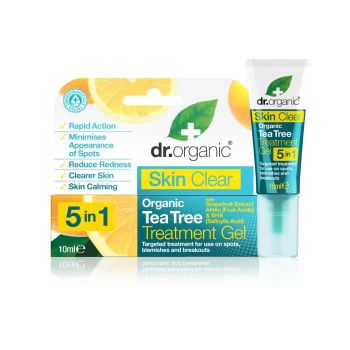 Dr.Organic Skin Clear Organic 5 in 1 Tea Tree Treatment Gel 10ml