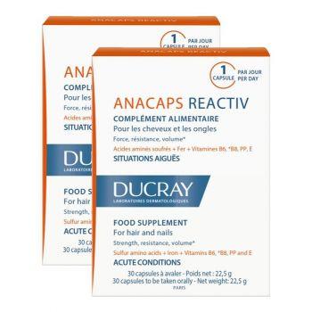 Ducray Anacaps Reactiv PROMO DUO Συμπλήρωμα Διατροφής για Ενδυνάμωση των Μαλλιών & των Νυχιών 2χ30caps