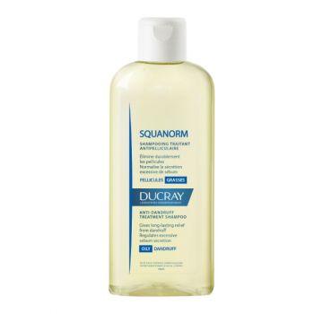 Ducray Squanorm Shampoo Pellicules Grasses Σαμπουάν Κατά Της Λιπαρής Πιτυρίδας 200ml