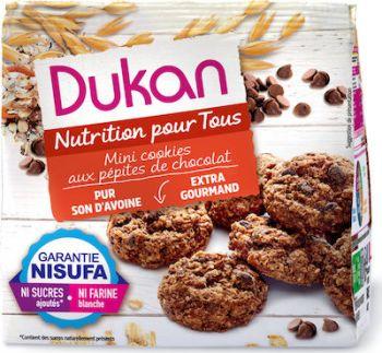 Dukan Μίνι Cookies βρώμης με κομμάτια σοκολάτας