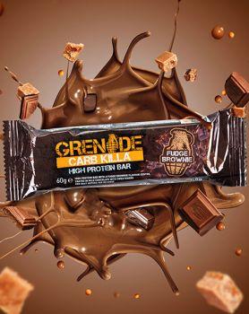 Dukan Grenade Carb Killa Μπάρες Υψηλής Πρωτεΐνης Fudge Brownie