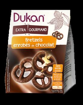 Dukan Pretzels Βρώμης με επικάλυψη σοκολάτας