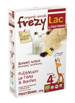 Frezyderm Frezylac Bio Cereal Βρεφική Κρέμα Βρώμης με Ρυζάλευρο Γάλα και Βανίλια Από Τον 4ο Μήνα 200 Gr