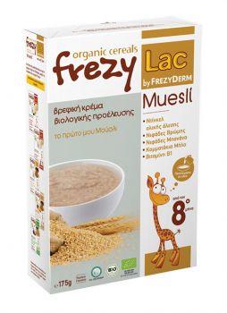 Frezyderm Frezylac cereals Βρεφική Κρέμα Muesli Bιολογικής Προέλευσης Aπό τον 8ο Μήνα 175gr