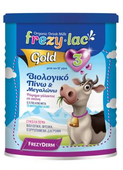 Frezyderm Frezylac Gold 3 Βιολογικό Αγελαδινό Γάλα Από Τον 12° Μήνα Και Άνω 400gr