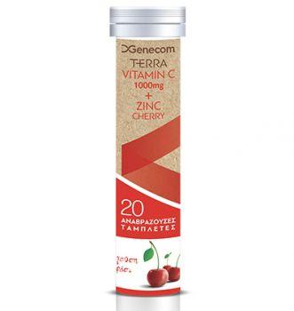 Genecom Terra Vitamin C + Zinc Cherry 20tbs