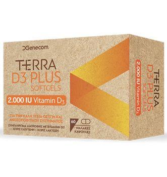 Genecom Terra D3 PLUS 2000iu 60tbs soft gels