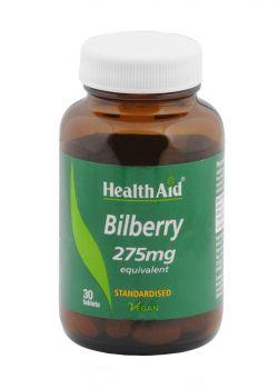 Health aid bilberry 275mg 30tabs