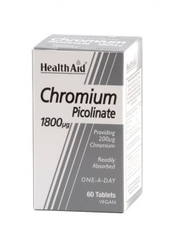 Health Aid Chromium Picolinate 200mg 60 tabs
