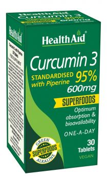 Health Aid Curcumin 3 with Piperine 600mg 30tabs