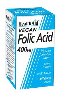 Health Aid Folic Acid 400mg 90 tabs