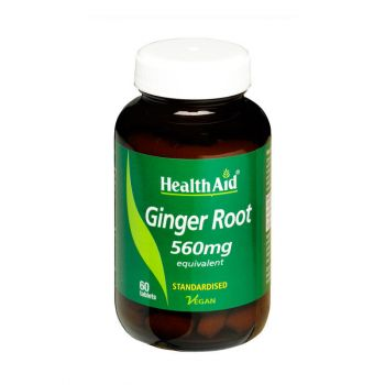Health Aid Ginger Root 560mg 60tabs