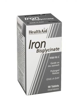 Health Aid Iron Bisglycinate With Vitamin C 90tabs