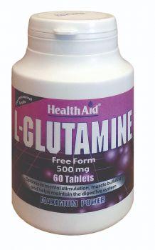 Health Aid L-Glutamine 500mg 60 tabs