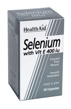 Health Aid Selenium 100 mg with Vitamin E 400 IU 30 caps