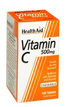 Health Aid Vitamin C 500mg Chewable 100tabs