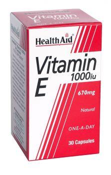 Health Aid Vitamin E 1000IU 30 Caps