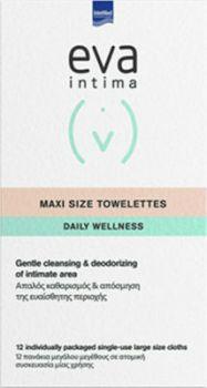 Intermed Eva Intima Fresh & Clean Maxi Size Towelettes 12 Τεμάχια