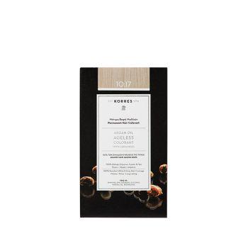 Korres Argan Oil Ageless Colorant με ceramides - Ξανθό πλατίνας μπεζ 10.17 Μόνιμη Βαφή Μαλλιών 160ml