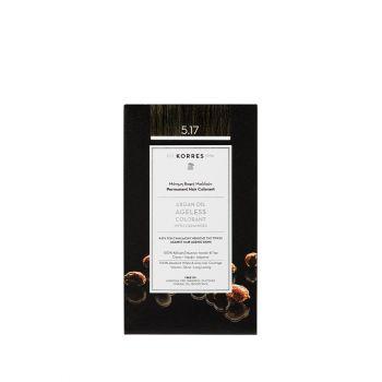 Korres Argan Oil Ageless Colorant με ceramides - Καστανό Ανοιχτό Μπεζ 5.17 Μόνιμη Βαφή Μαλλιών 160ml