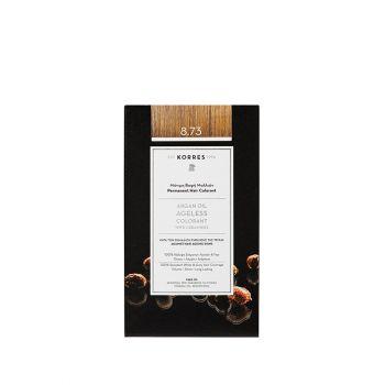 Korres Argan Oil Ageless Colorant με ceramides - Χρυσή καραμέλα 8.73 Μόνιμη Βαφή Μαλλιών 160ml