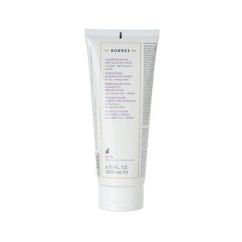 Korres Conditioner Allmond and Linseed for Dry Hair Μαλακτική Κρέμα με Αμύγδαλο & Λινάρι για τα Ξηρά & Αφυδατωμένα Μαλλιά 200ml